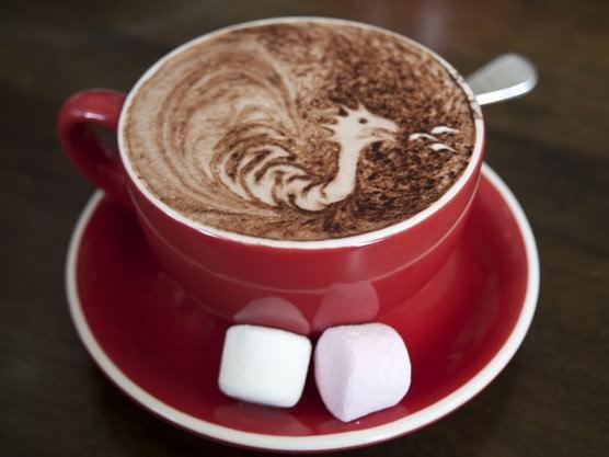 Lanas hot chocolate had another chocolatey dragon
