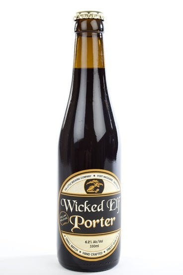 Wicked Elf Porter Beer, The little brewing company