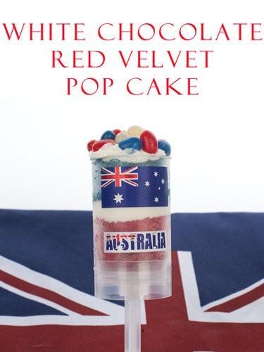 Australia Day Cake Pop Ups, Australia Day Food