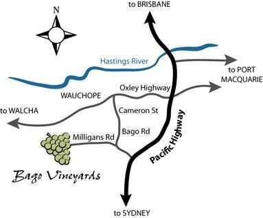 Bago Vineyard Map