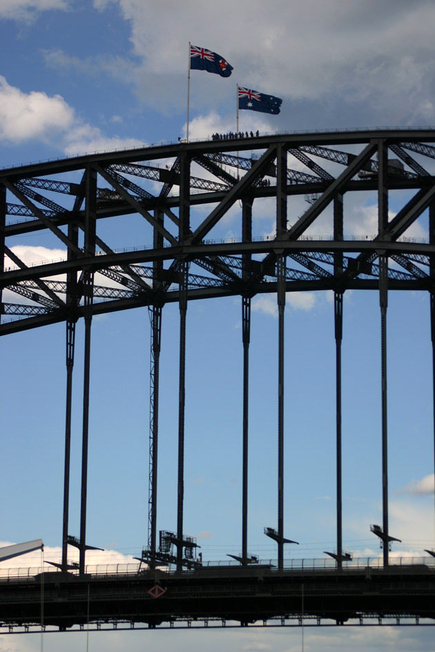 Climbers on the Harbour Bridge