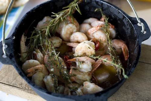 Garlic Prawns in oil