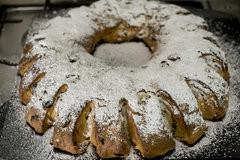 German Stollen Wreath