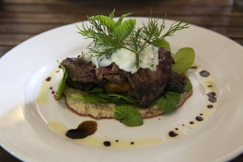 Greek Lamb, The rustic table