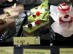 Green Tea and choc cake