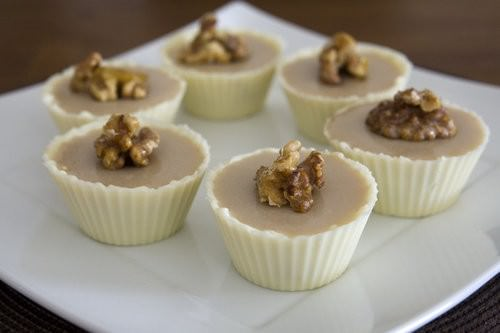 Individual Maple Syrup Mousse in a chocolate cup