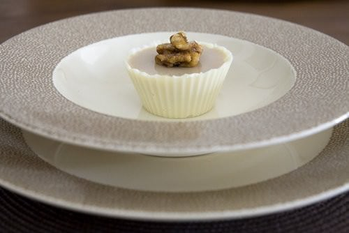 Individual Maple Syrup Mousse in chocolate cups