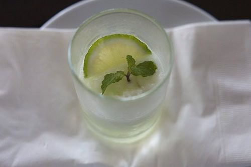 Lime and mint Sorbet