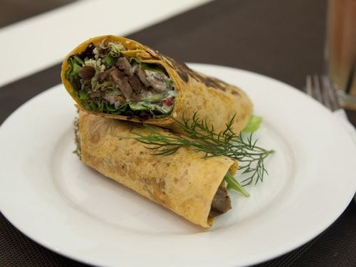 Marinated lamb wrap, cocoa cafe coffs Harbour