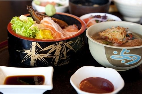 Musashi Haymarket Udon Set and Chirashi