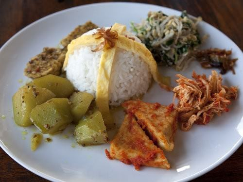 Nasi Campur, Honeymoon cottages, bali