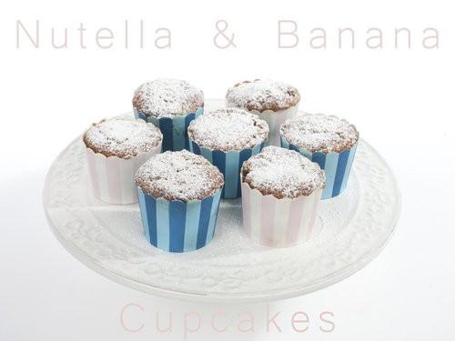 Nutella & Banana Cupcakes