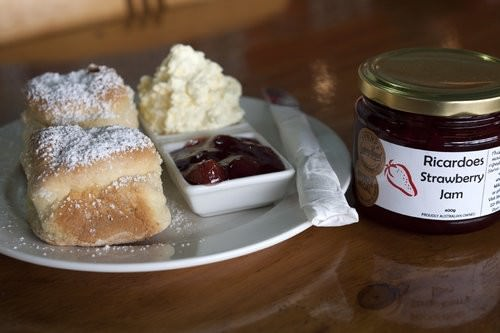 Ricardoes Tomatoes, strawberry Picking, hot houses, famous scones and jam