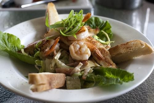 Roman and atlantic casear salad, little fish cafe, port macquarie
