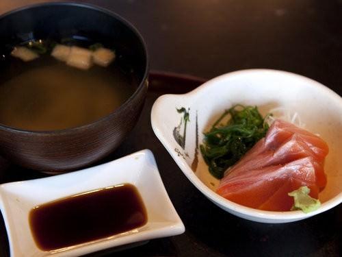 Sashimi Salmon and Miso Soup-2