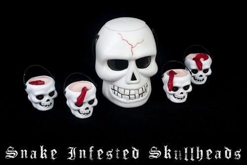 Snake Infested Skull head dessert