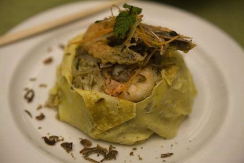Spicy rice pancake