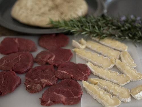 Steak Ingredients for pizza