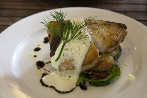Swordfish and Smashed chats, The Rustic Table