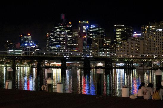 Sydney darling harbour night time