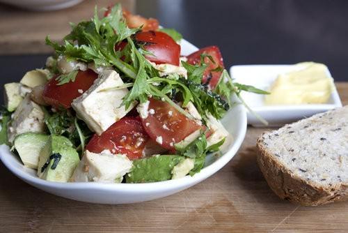 Vine ripened tomato salad, cafe ish