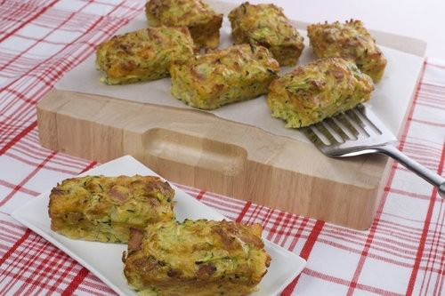 Zucchini and bacon loaves