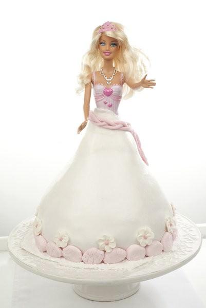 barbie cake, dolly vardin, dolly varden, white chocolate mud cake