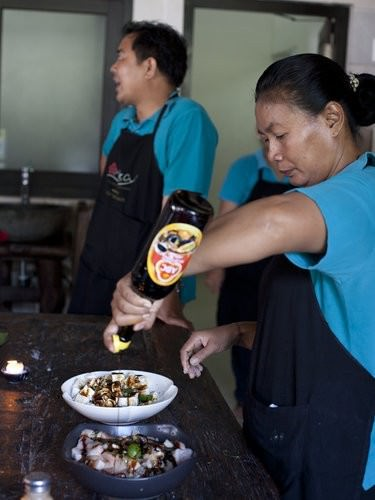 tempe satay sticks, balinese cooking school, bali