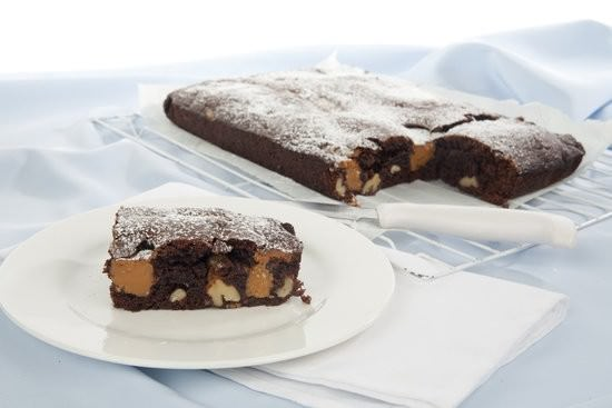 Chocolate dulce de leche brownies