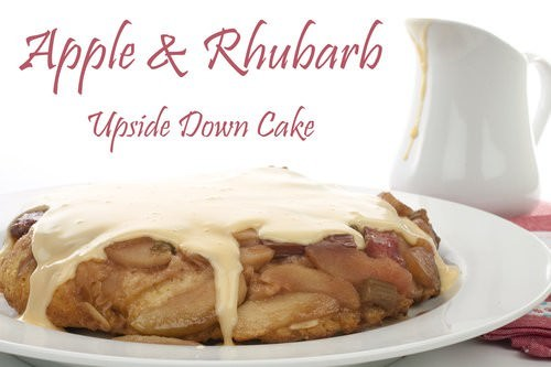 Apple Rhubarb Upside Down Cake Meat And Travel