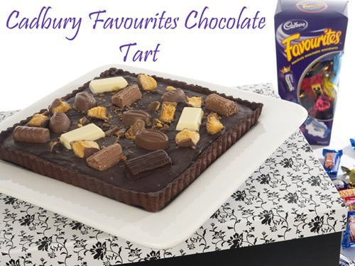 Cadbury favourites chocolate tart