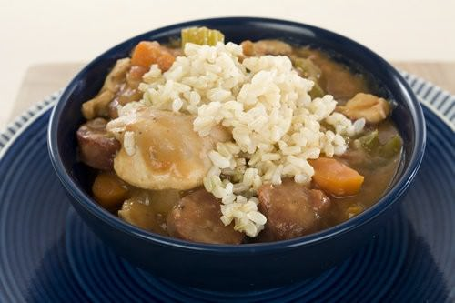 Chicken and chorizo gumbo, slow cooker, easy gumbo