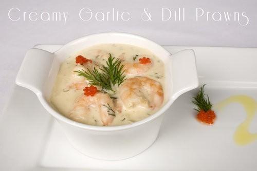 Creamy Garlic & Dill Prawns