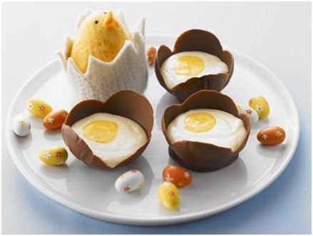 Easter Dessert - Creamy Chocolate Mousse Eggs