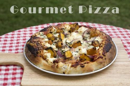Gourmet Pizza Pumpkin and Goats cheese