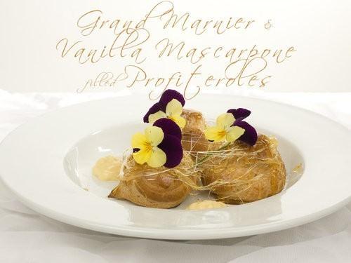 Grand Marnier & Vanilla Mascarpone Profiteroles