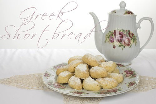 Greek Shortbread Crescents