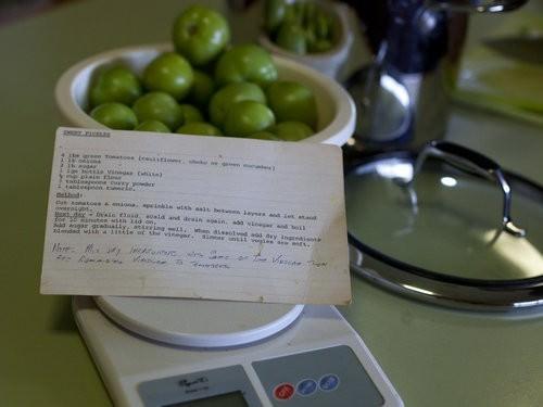 Green tomato recipes, pickles