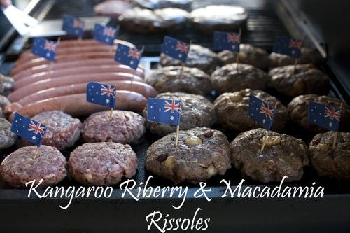 Kangaroo Rissoles with Riberry and Macadamia