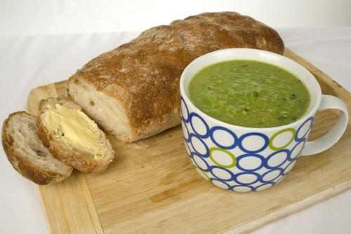 Easy Pesto Pea Soup