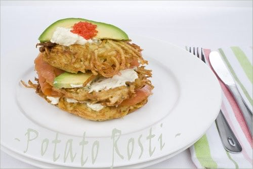 Potato Rosti & Smoked Salmon Stack