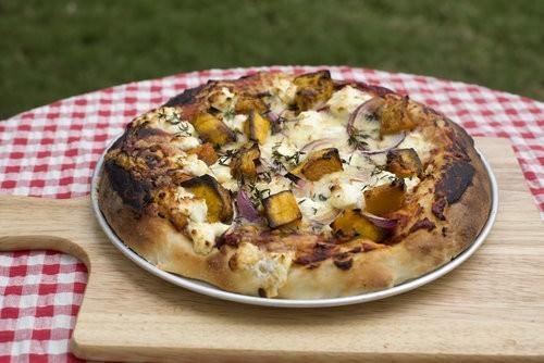Pumpkin and Goats Cheese Gourmet Pizza