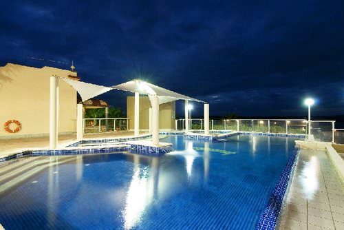 Rydges Port Macquarie Pool at night