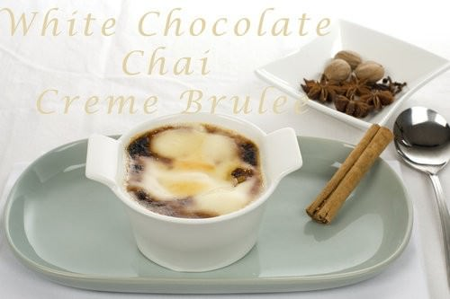 White Chocolate Chai Creme Brulee