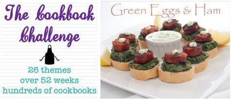 green Eggs and ham, tapas, cookbook Challenge