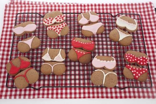 Bikini and Bums Cookies Iced Sugar Cookies