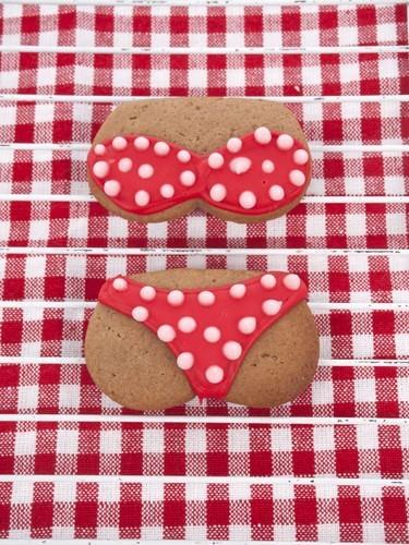 Dotted Bikini Sugar Cookie