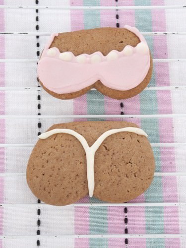 Pink Bikini G'string Sugar Cookie
