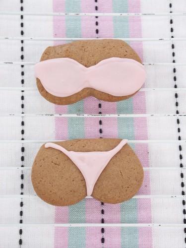 Pink Boob Tube Bikini Sugar Cookie