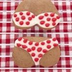 Red Dotted Bikini Sugar Cookie